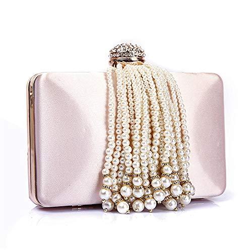 decoracin noche de de honor borla en mujeres cuentas Miss bolso Joy embragues clubes fiesta dama discotecas nocturnos de novia para con Pink perla Las UYv60q