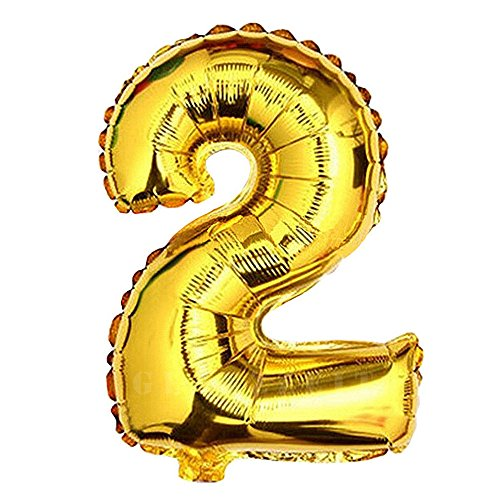 Glanzzeit 32 Inch Gold Foil Balloons Letters A to Z Numbers 0 to 9 Wedding Birthday Holiday Party Decoration (Number -
