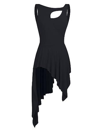 cd5e286fd Freebily Ladies Girls Lyrical Dress Contemporary Ballet Modern Jazz Dance  Leotards Ballroom Costume Black Medium