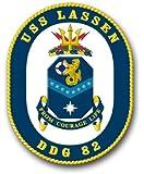 "US Navy Ship USS Lassen DDG-82 Decal Sticker 5.5"""