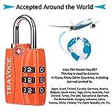 Travoce TSA Compatible Luggage Locks, Orange 6