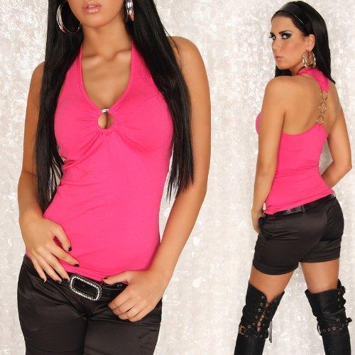 Unbekannt - Camiseta sin mangas - cuello en V - para mujer Rosa