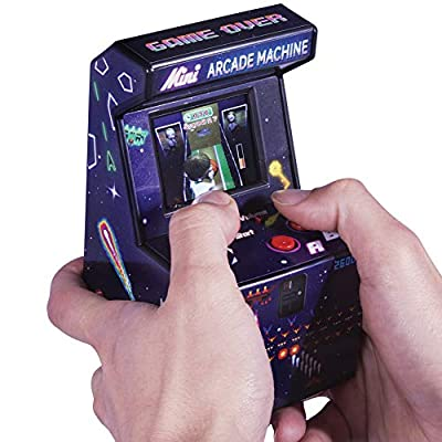 THUMBS UP (UK) LTD Mini Arcade Machine - Loaded w/ 240 Retro Games Full Color w/ Sound Effects