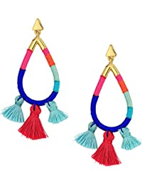 Womens Tubular Thread Wrapped Earrings