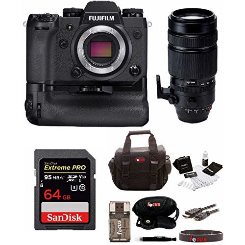 Fujifilm X-H1 4K Mirrorless Camera Body with Booster Grip and XF 100-400 f|4.5-5.6 Super Telephoto Lens Bundle