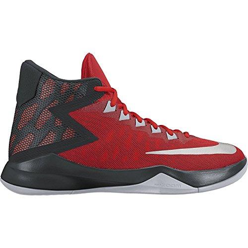 Nike Mænds Zoom Devosion Basketball Sko Universitet Rød / Metallisk Sølv muoA8y0Ah