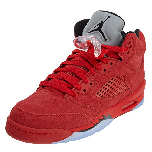 Jordan Air 5 Retro BG Red Suede Lifestyle Kids Sneakers - - Retro Kids 5