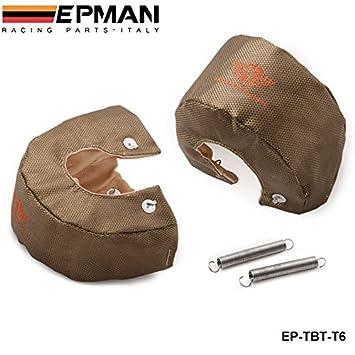 EPMAN de alta calidad TITANIO T6 Turbo Turbo cargador de la cubierta de la manta escudo térmico de la cubierta del EP-OTC-T6: Amazon.es: Coche y moto