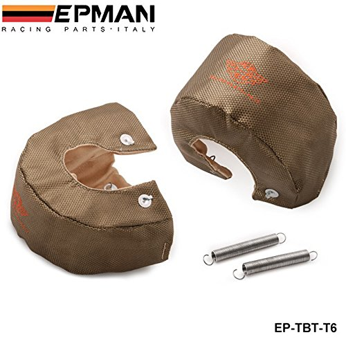EPMAN-High Quality TITANIUM T6 Turbo Charger Cover Turbo Blanket Heat Shield Cover EP-TBT-T6 Bo Luo