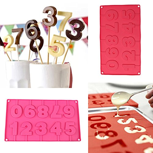 Inn Diary Number 0-9 3d Silicone Mold - Candy Mold,Cube Shell Molds,Cake Baking Mold (Numbers Silicone)