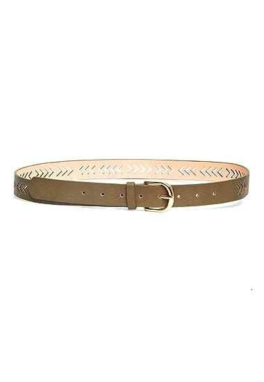 Boutique en ligne 3e920 477b8 LOB Cinturon Verde Olivo Cinturon para Mujer Olivo Talla ...
