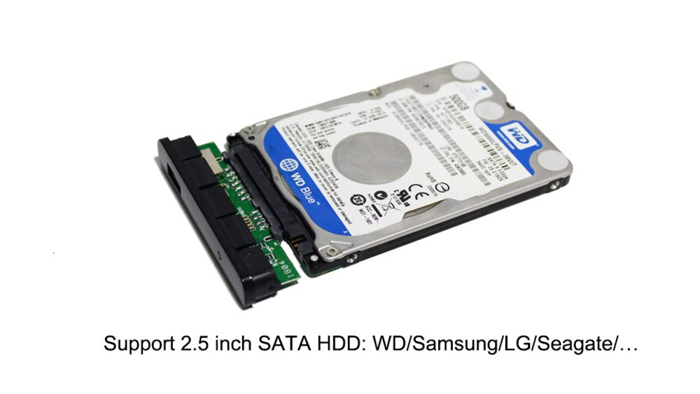 Amazon.com: Carcasa externa de 2,5 pulgadas para disco duro ...