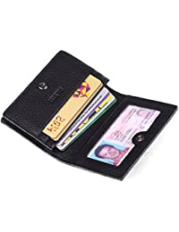 Men's Credit Card Holder Slim Leather RFID Blocking Wallet Case for Men Pabin