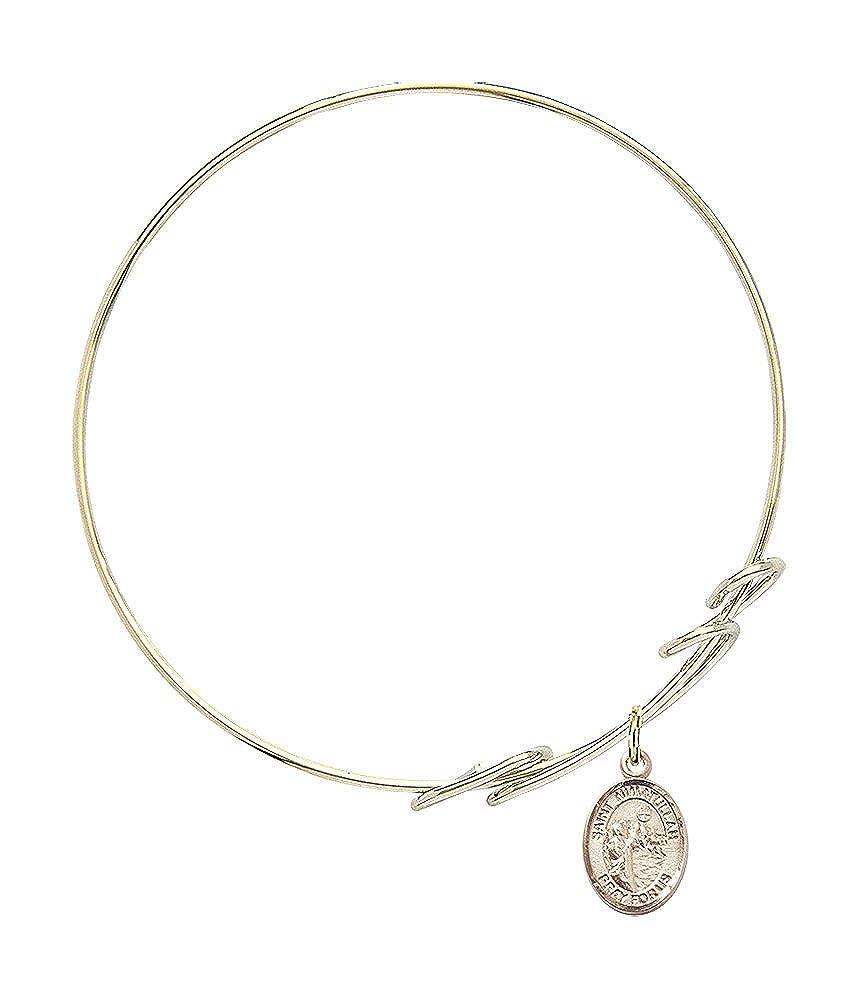 Nimatullah Charm On A 7 1//2 Inch Round Double Loop Bangle Bracelet St