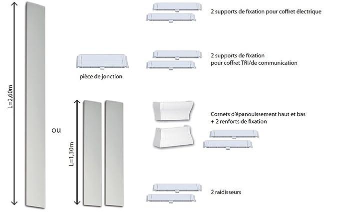 Voltman - Cuadro eléctrico para viviendas (260 x 25,5 cm, con 2 embellecedores): Amazon.es: Bricolaje y herramientas