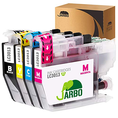 JARBO 1 Set Compatible Ink Cartridge Replacement for Brother LC3013 LC-3013, Compatible with Brother MFC-J491DW, MFC-J690DW, MFC-J895DW, MFC-J497DW Printer (1 Black, 1 Cyan, 1 Magenta, 1 ()
