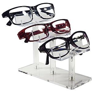 Mooca Acrylic 3 Tier Eyeglasses / Sunglasses / Pens Stand Holder