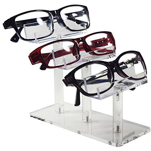 MOOCA Acrylic 3 Tier Eyeglasses/Sunglasses / Pens Stand Holder