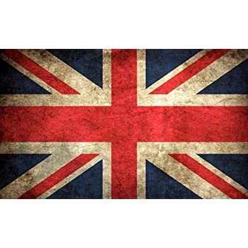 Vintage union jack flag sticker uk britain british london old