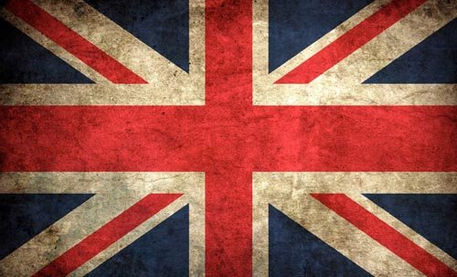 American Vinyl Vintage Union Jack Flag Sticker (UK Britain British London Old) ()