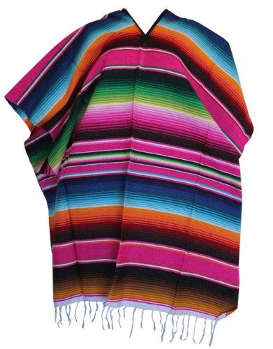 (Del Mex (TM Mexican Serape Poncho Adult Costume)
