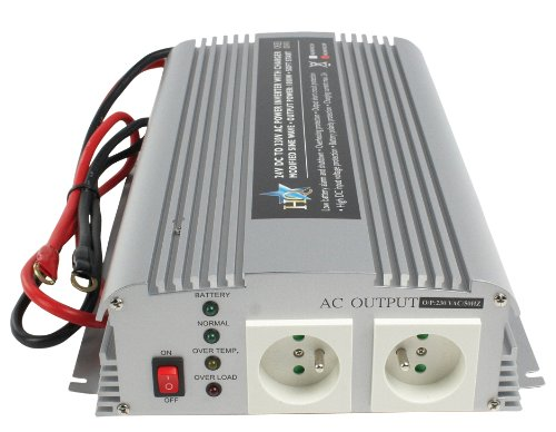 HQ-INV1KC//24 HQ Power Inverter//Charger 24v to 230v 1000w with 2x Schuko Socket