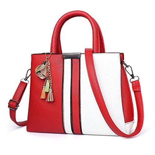 Cartella Donna Borsa Pelle Tracolla UOMOGO® A Sacchetto rosso In Borse Sacchetti Borsa Beige S1ngBxWnz