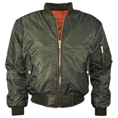 Janisramone Womens Ladies New Ma1 Bomber Vintage Padded Jacket