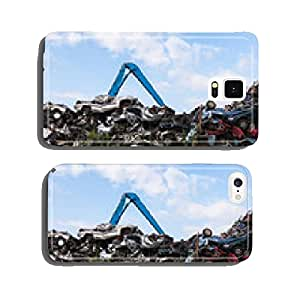 Scrap yard with crushed cars and blue sky cell phone cover case iPhone6 Plus