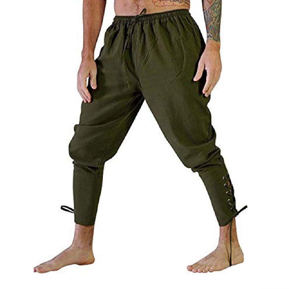 Zimaes-Men Medieval Pants Original Fit Quick Drying Relaxed Casual Trousers