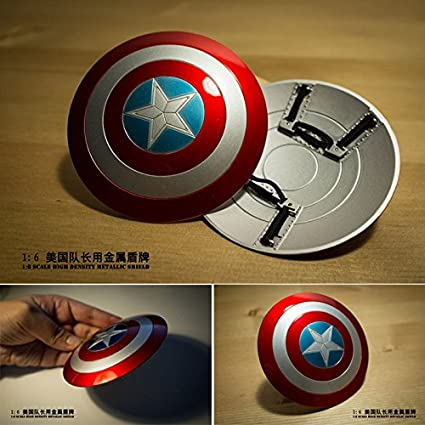 1//6 Captain America Shield Metal Material Can buckle Hand latest improved Acc