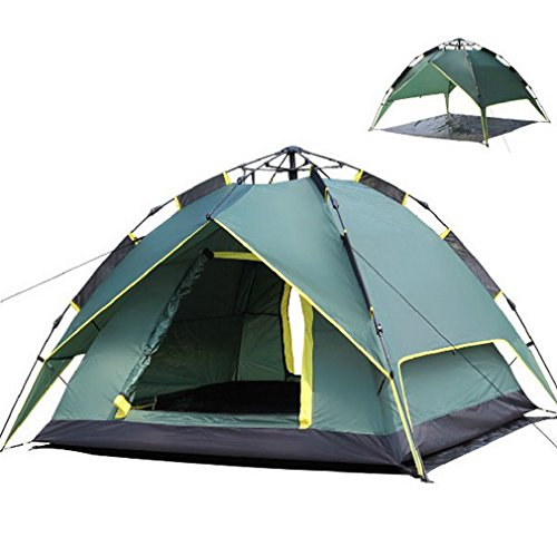 Yks Waterproof 3-Person Camping Backpacking Tent Automatic UV-proof Windproof Folding Tent With Double Layers For Home and Outdoor