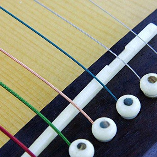 Foxnovo 2-in-1 Durable Bone Bridge Saddle Nut Set for Steel String Acoustic Guitar (Ivory)