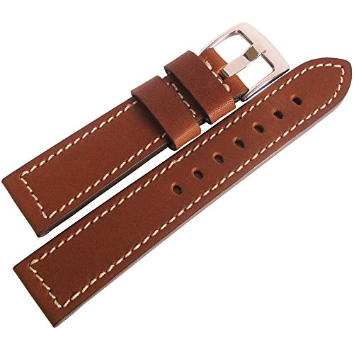 Fluco Snow Calf 22mm Tan Leather Watch Strap by Fluco