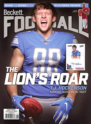 Beckett Football Monthly Price Guide Magazine August 2019 Lion's TJ ()