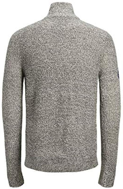 JACK & JONES męski sweter z dzianiny JORJEFFREY Dark Grey Melange: Odzież