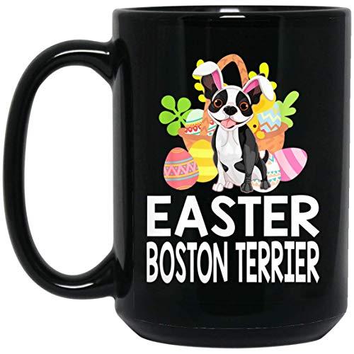 Funny Boston Terrier in Egg Easter Day Gift For Women Men Kids 15oz Coffee Tea -