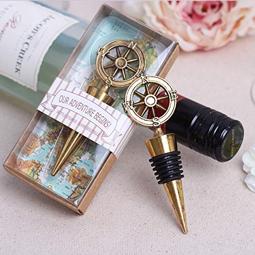 20X Nautical Compass Wine Bottle Opener Wedding Favor Bridal Shower]()