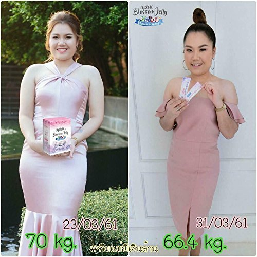(NEW!!! GDM Blossom Jelly Block and Burn 5 Berry Extract Drink For Weight Loss Dietary Supplement 2 Flavours in a box (20 sachets/box))