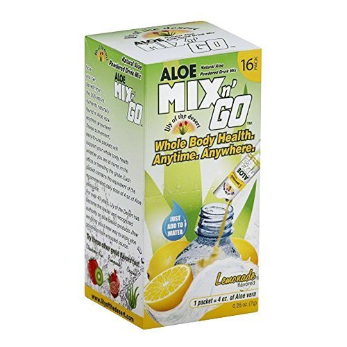 Lily Of The Desert Mix N Go Aloe Drink, Lemonade, 16 Count
