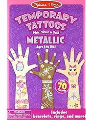 Melissa & Doug Temporary Tattoos - Metallic Temporary Tattoos