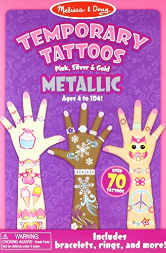 Melissa & Doug Temporary Tattoos - Metallic Temporary Tattoos]()
