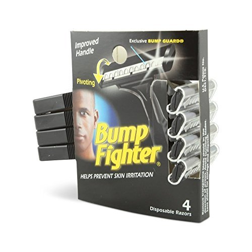 Bump Fighter Mens Disposable Razors, 32 Razors (8 X 4 Count Packs)