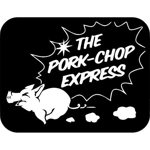 - NBFU DECALS Pork CHOP Express (Black) (Set of 2) Premium Waterproof Vinyl Decal Stickers for Laptop Phone Accessory Helmet Car Window Bumper Mug Tuber Cup Door Wall Decoration