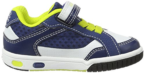 Geox Jr Gregg a, Zapatillas Para Niños Azul (Blue/limec0902)