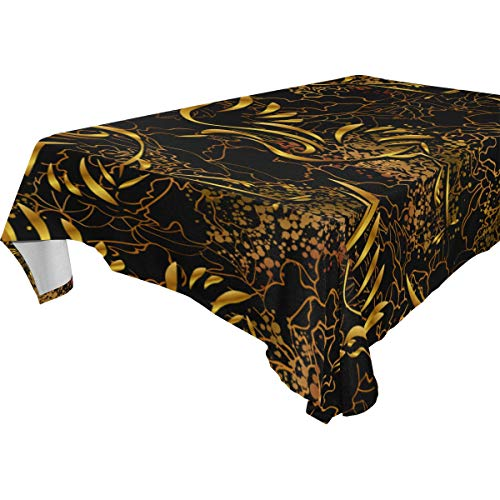- ZOMOY Decor Tablecloth Wallpapers Asian Style Dancing Cranes Against Multicolor Rectangular Table Cover for Dining Room Kitchen Outdoor Picnic