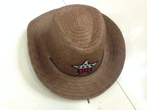 JTC Kids Straw Cowboy Boys Sun Hat Caps Coffee by Jtc (Image #3)