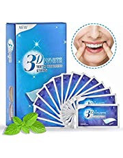 Teeth Whitening Strips, 3D White Whitestrips with Mint Flavor for Gum Health and Refresh Breath, Dental Whitener Kit Elastic Gels for Teeth Stain Removal
