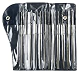 Mercer Industries GNSI62 Swiss Pattern Needle File Set, Medium Cut, 6-1/4'', 12-Piece
