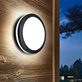 PADMA 12W Outdoor Ceiling Lights for Porch Modern Outside Wall Mount Lighting for Hallway LED Bulkhead Light 6000K Daylight IP54 Waterproof Lamp for Garage Pa